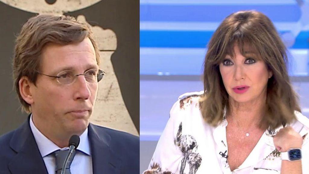 El apoyo público de Ana Rosa a las palabras de Almeida sobre la moción de censura