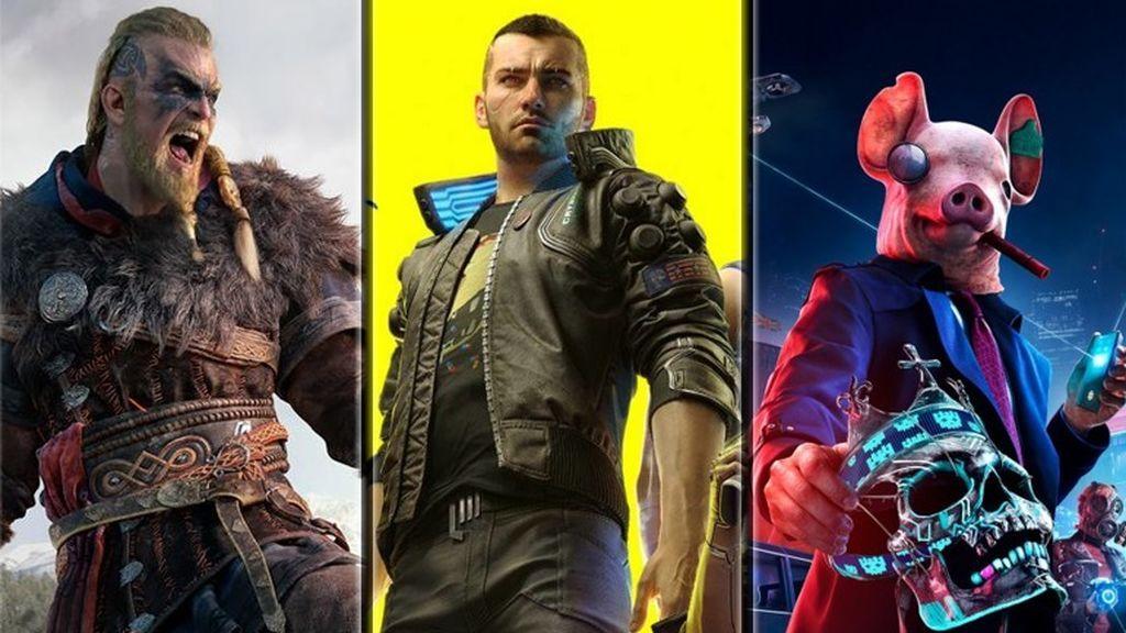 Assassin's Creed Valhalla, Cyberpunk 2077 y Watch Dogs Legion