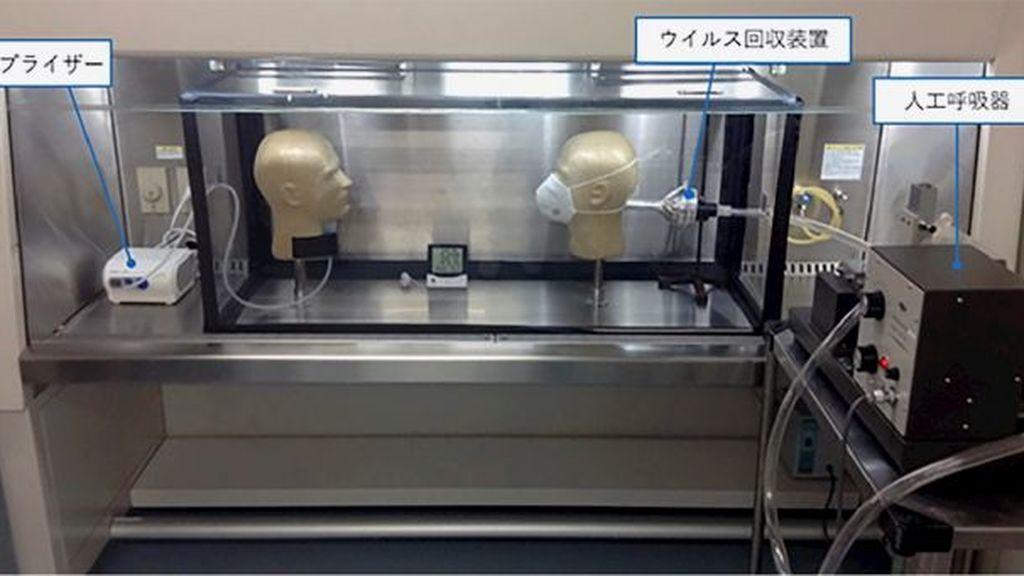 Un experimento con un simulador de infección demuestra la eficacia de las mascarillas contra la covid