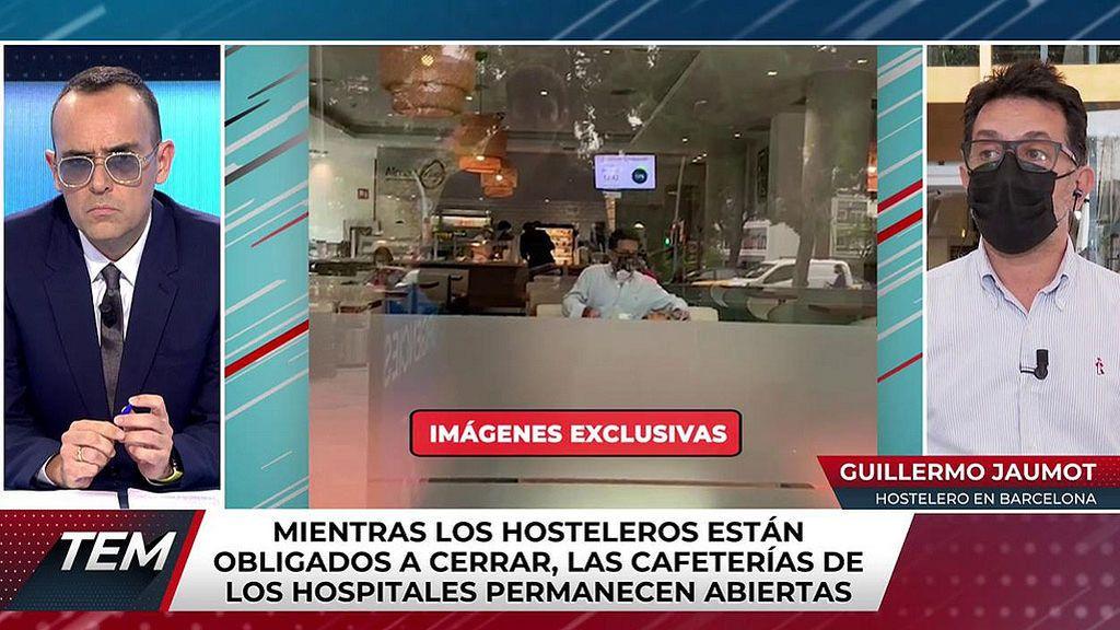 Las cafeterías de los hospitales siguen abiertas
