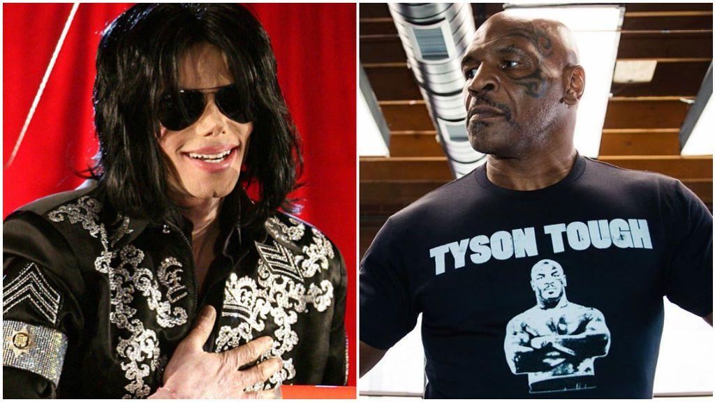 Michael Jackson, en un concierto y Mike Tyson, en sus redes sociales.