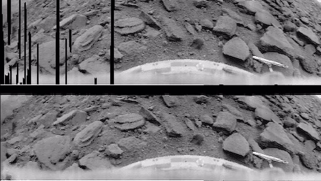 Imágenes de la superficie de Venus tomadas por la sonda rusa Venera 9