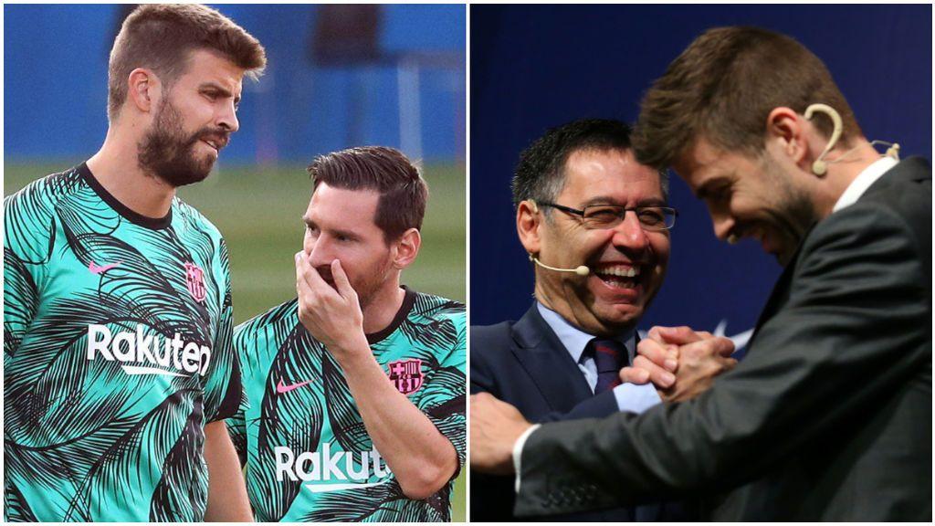 Piqué intentó que Messi no saliera del Barcelona.