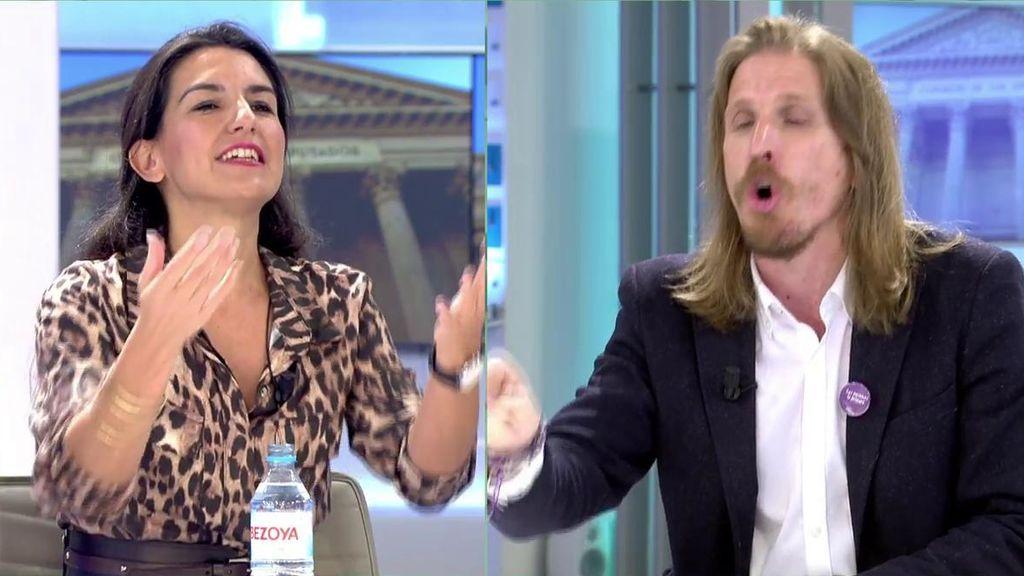 La discusión entre Rocío Monasterio y Pablo Fernández
