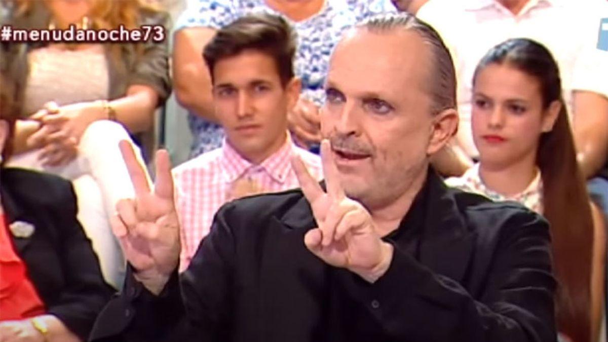 Miguel Bosé hablando de sus cuatro hijos en 'Menuda noche'