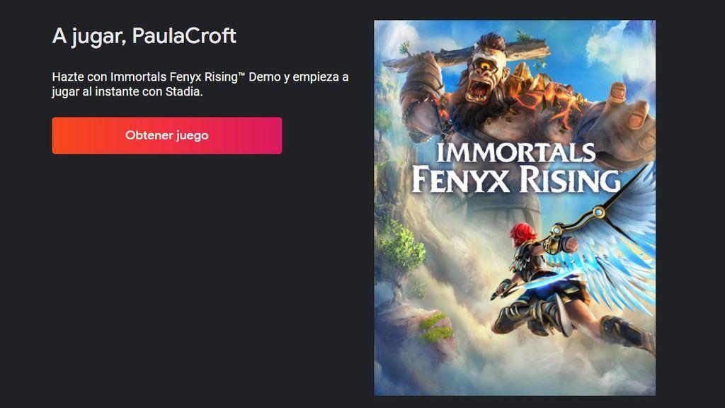 Immortals Fenyx Rising en Google Stadia