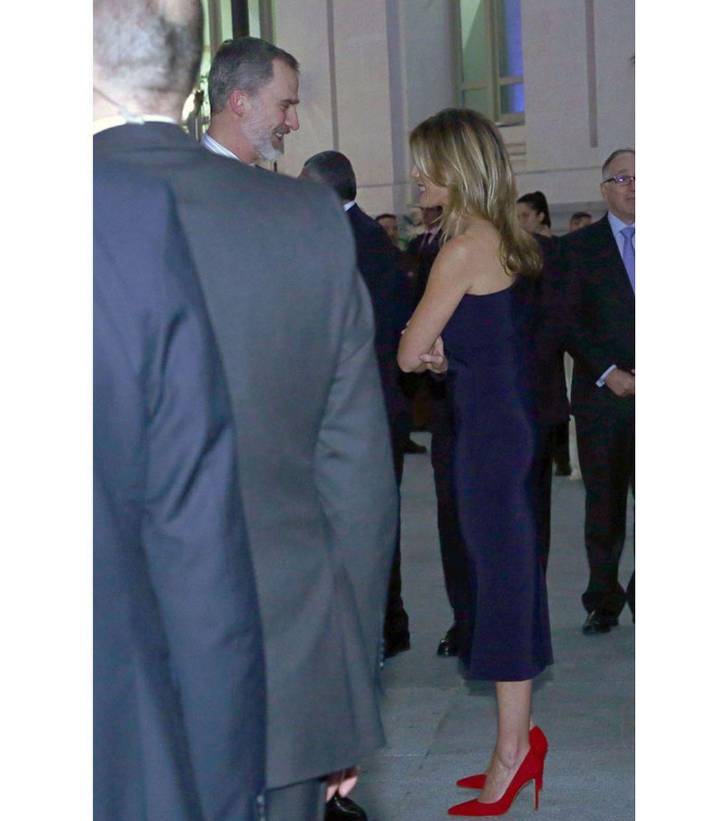 Begoña Gómez con el rey Felipe VI en FITUR 2020