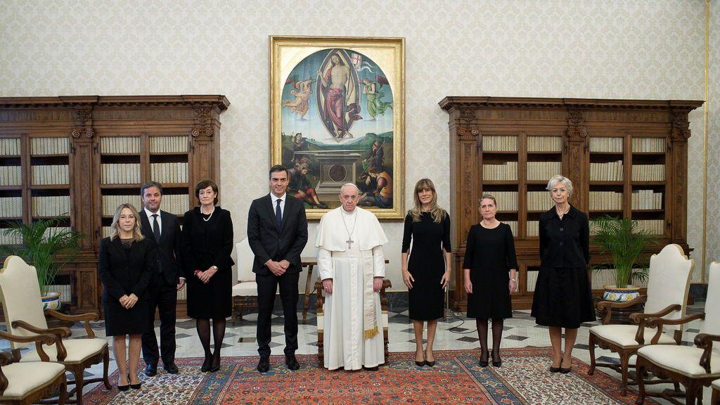 Sánchez se reúne con el papa en el Vaticano