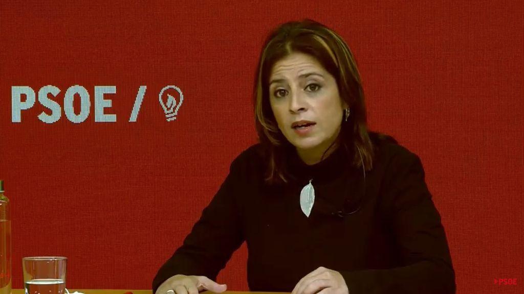 """Lastra pide a Casado que """"rompa definitivamente"""" con Vox y demuestre que sus palabras """"no eran sólo propaganda"""""""