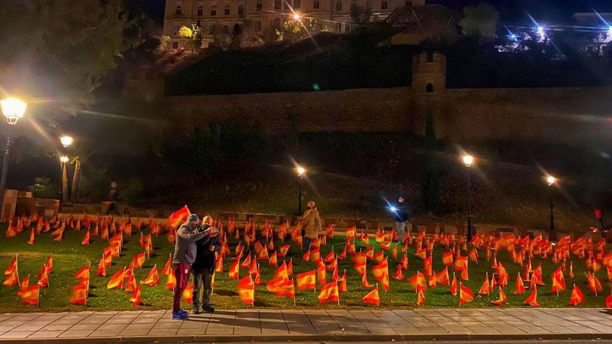 La Policía Local impide a la Asociación ANVAC colocar 65.000 banderas de España en Toledo