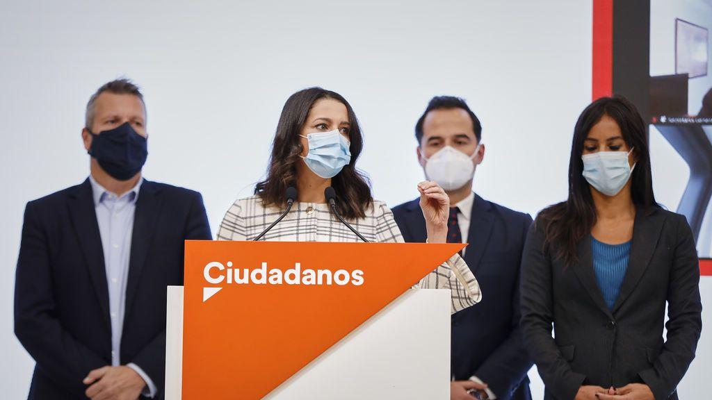 Rueda de prensa de Inés Arrimadas