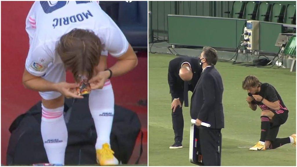 Modric y su curioso ritual antes de saltar al campo: besar repetidas veces su espinillera