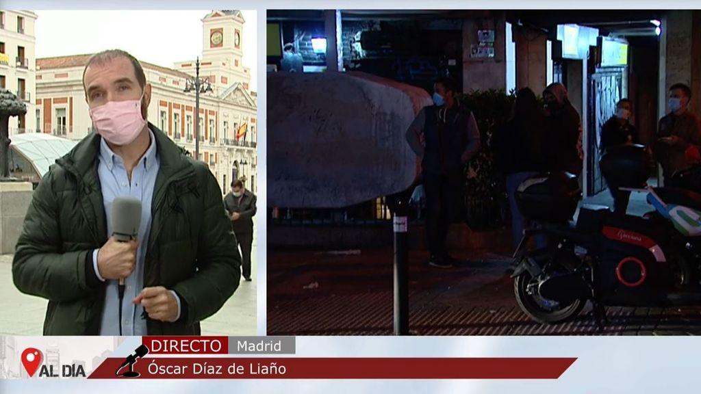 Primera noche de 'toque de queda' en Madrid: calles desiertas de madrugada
