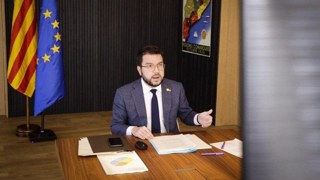 Aragonès reivindica ante a Von der Leyen que Cataluña celebre un referéndum