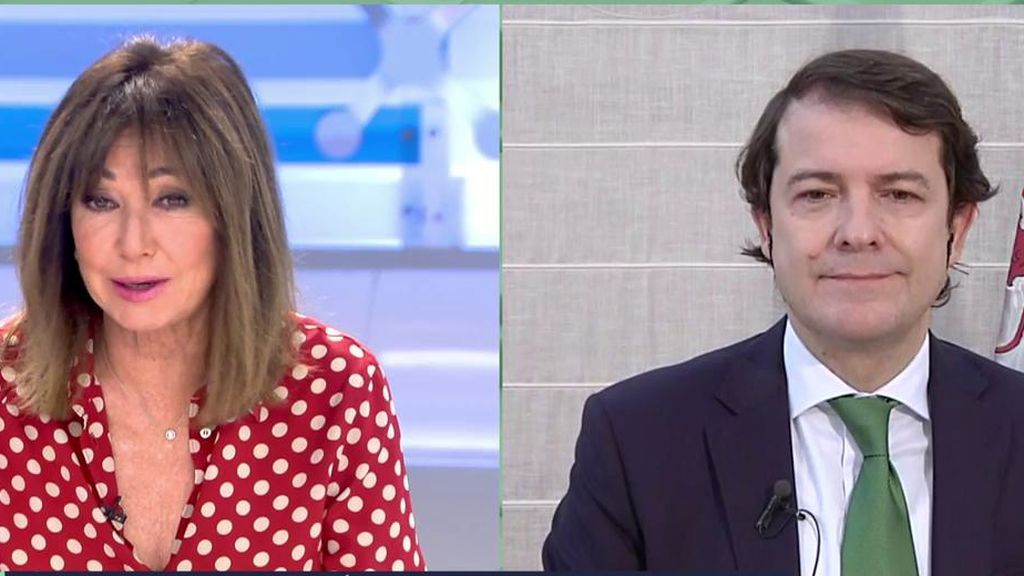 Entrevista al presidente de Castilla y León sobre el toque de queda