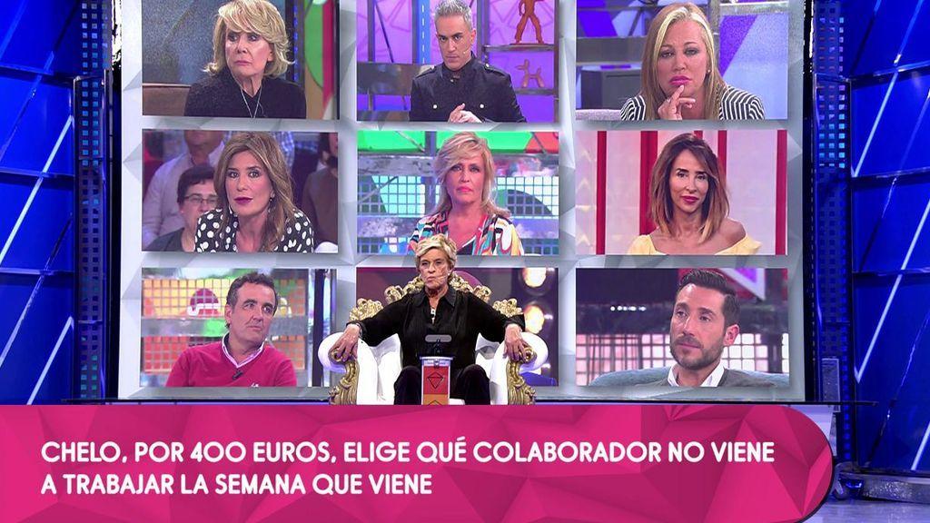 Chelo Gª Cortés elige a uno de sus compañeros y le deja una semana sin trabajar (¡Y sin cobrar!)