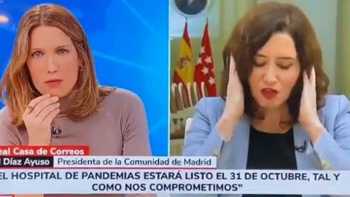 Díaz Ayuso se lía en una entrevista sobre el nuevo hospital de Madrid y se convierte en trending topic