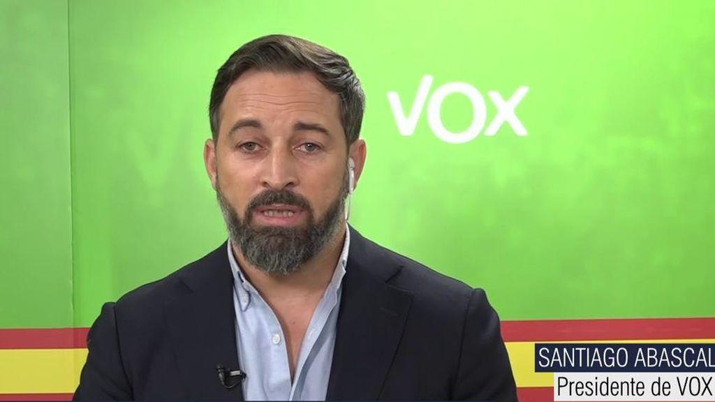 Santiago Abascal ataca a Pablo Casado y habla de la inmigración