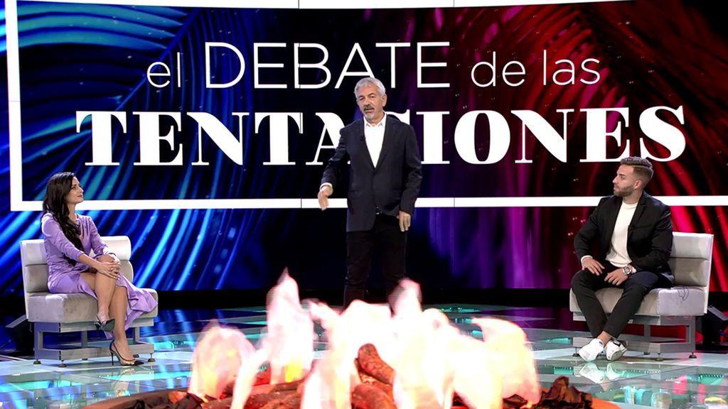 Un cara a cara a fuego de los principales protagonistas La isla de las tentaciones Temporada 2 Debate 5