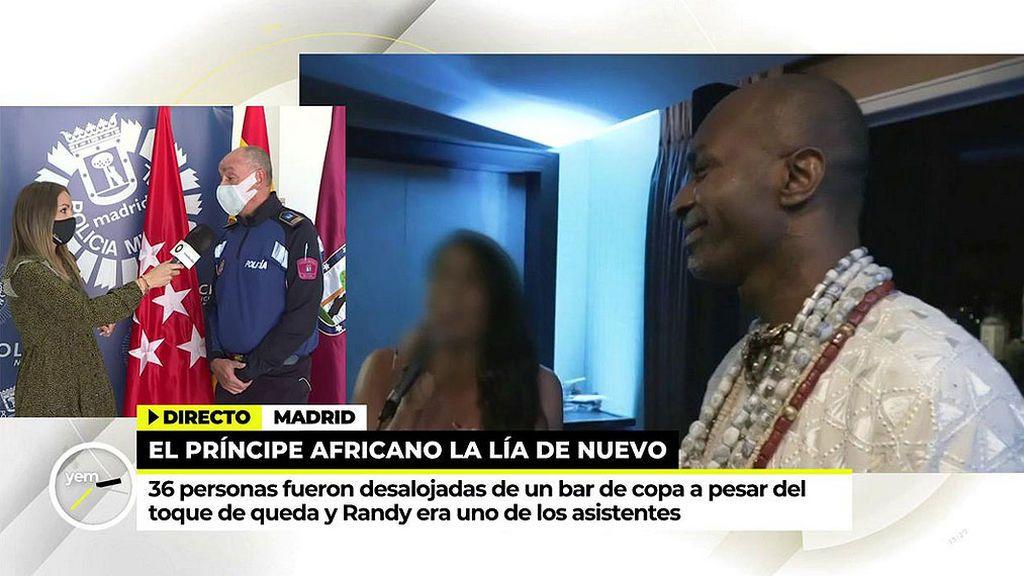 El Príncipe Africano detenido en una fiesta privada con seis personas dispuestas a denunciar por secuestro
