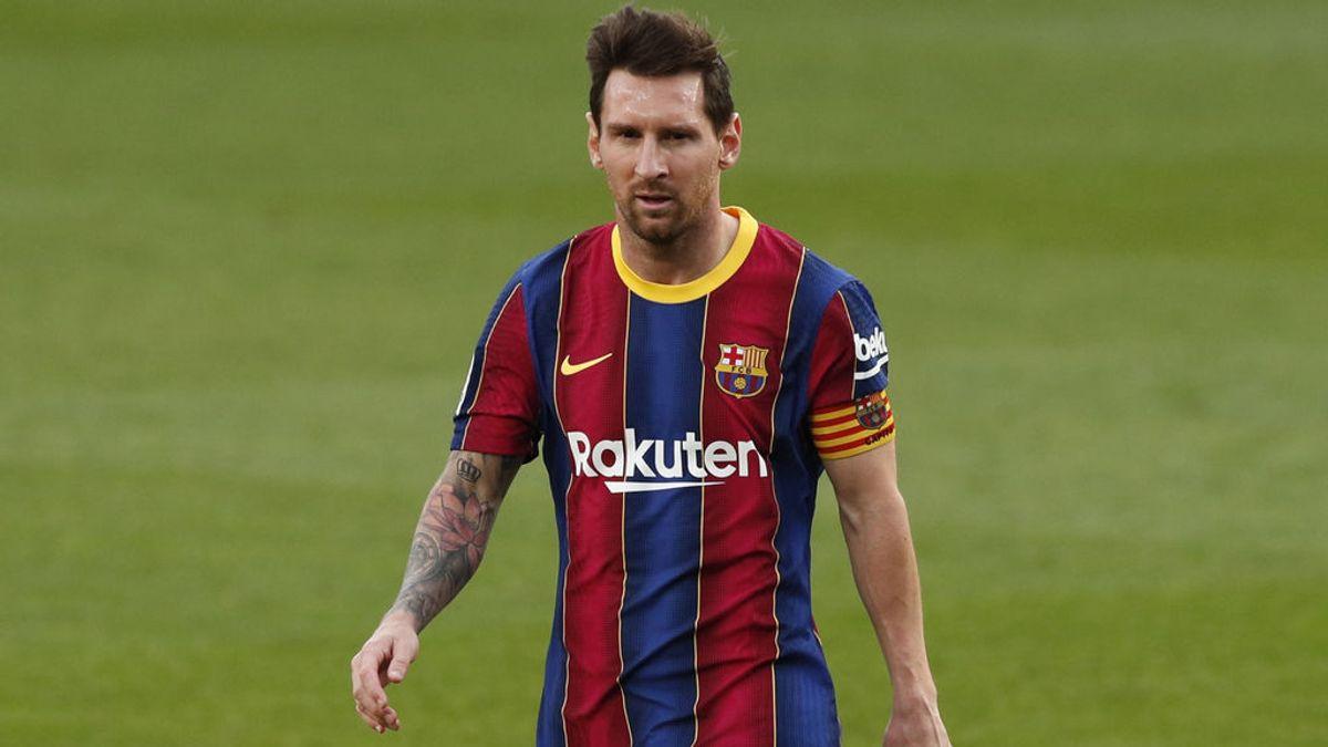 Leo Messi, durante un momento del Clásico en el Camp Nou.