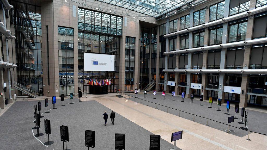 La Bruselas europea, paralizada por el coronavirus