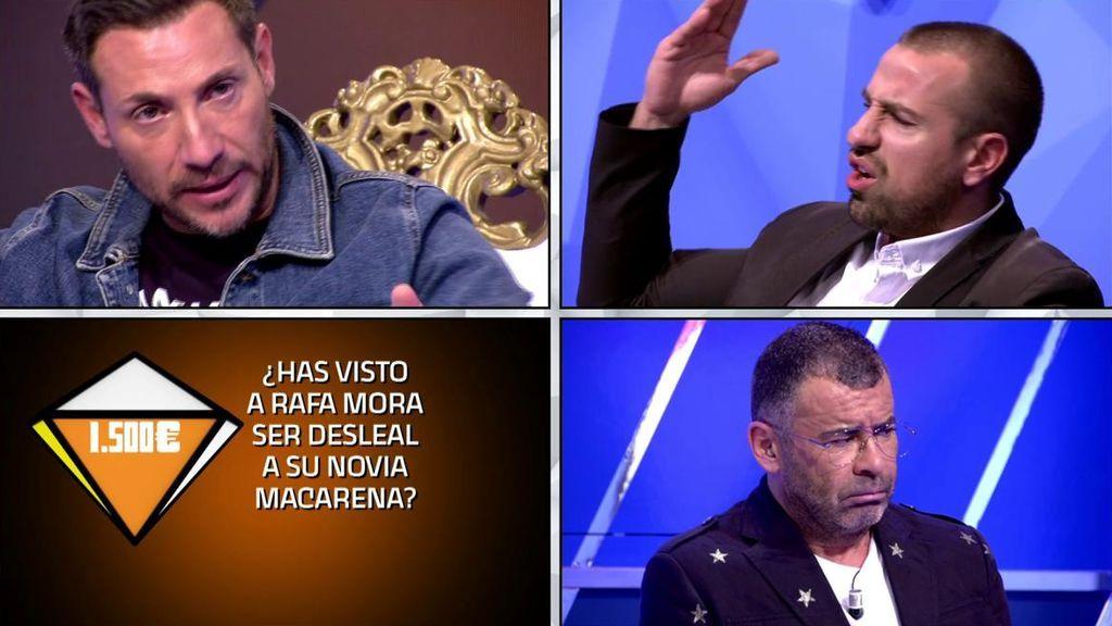 Kopérnica compromete a Rafa Mora: Antonio David Flores niega haber sido testigo de una deslealtad del colaborador a su novia pero la máquina determina que miente