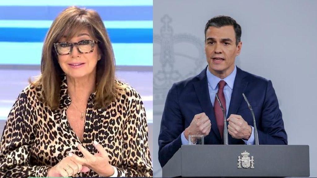 Ana Rosa critica abiertamente a Pedro Sánchez