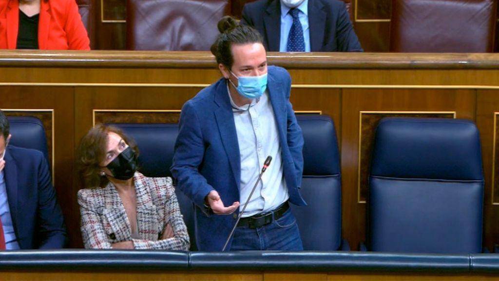 Rifi-rafe entre Iglesias y la diputada de Vox, Macarena Olona