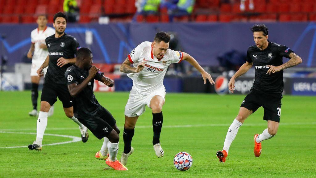 El Sevilla domina y consigue la victoria ante el Rennes