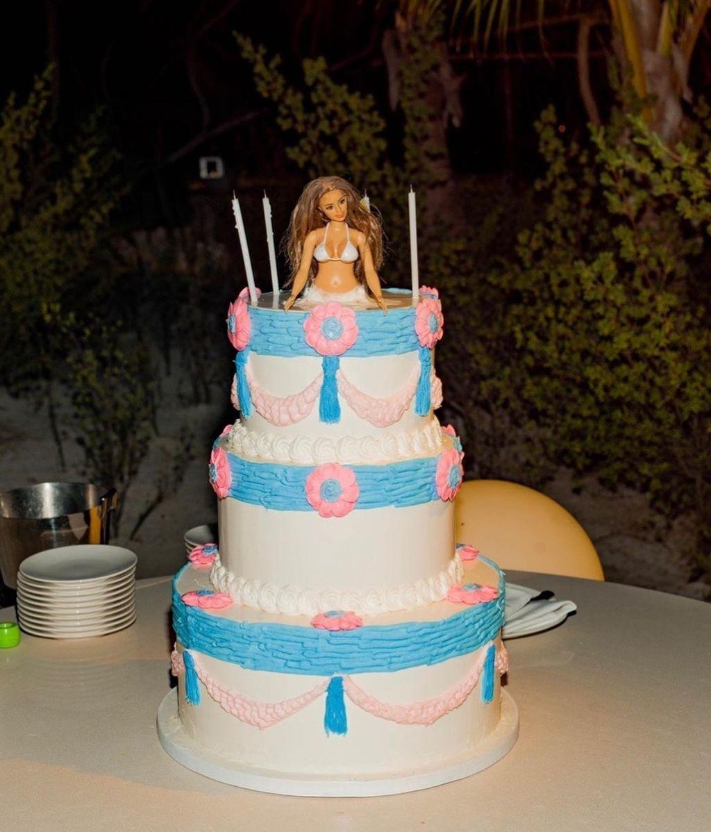 La tarta de cumpleaños de Kim Kardashian