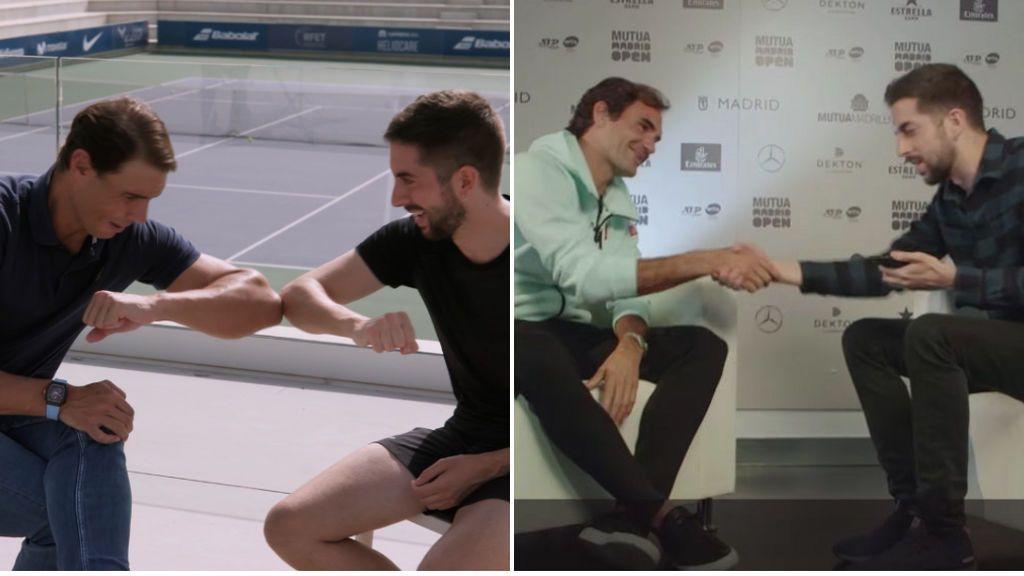 """El vacile de Rafa Nadal a David Broncano con su admirado Federer: """"Creo que no se acuerda de ti"""""""