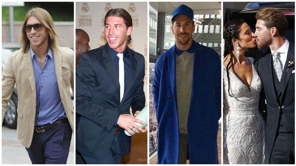 Una larga melena y un estilo más tradicional al vestir: así era Sergio Ramos antes de conocer a Pilar Rubio.