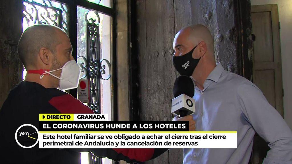 """El cierre de un histórico hotel en Granada: """"Hemos luchado, pero hay que cerrar"""""""