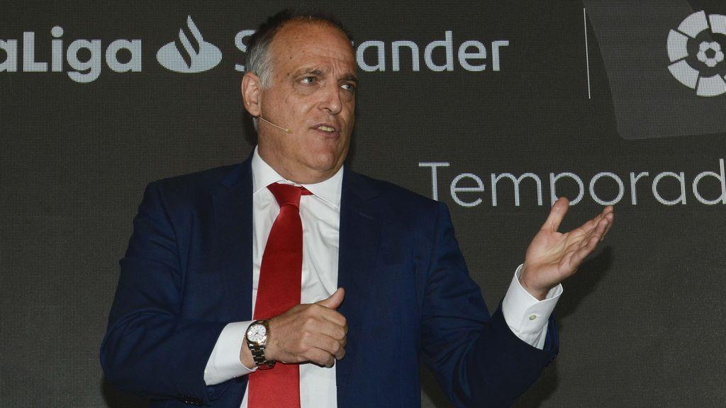 Javier Tebas, en contra de la creación de la Superliga.