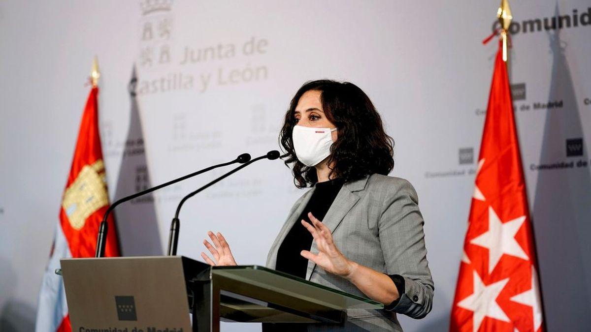 Última hora del coronavirus: Ayuso amenaza a Sánchez con no cerrar Madrid si no le deja hacerlo solo el puente