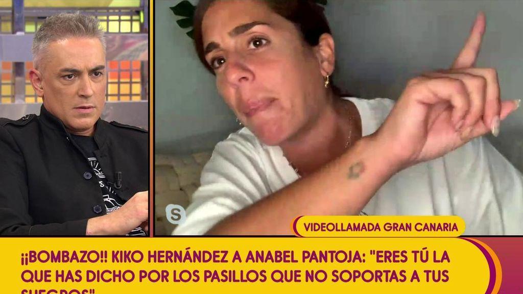 """Kiko Hernández saca de quicio a Anabel Pantoja haciendo un comentario sobre sus suegros: """"¡Eso es mentira!"""""""