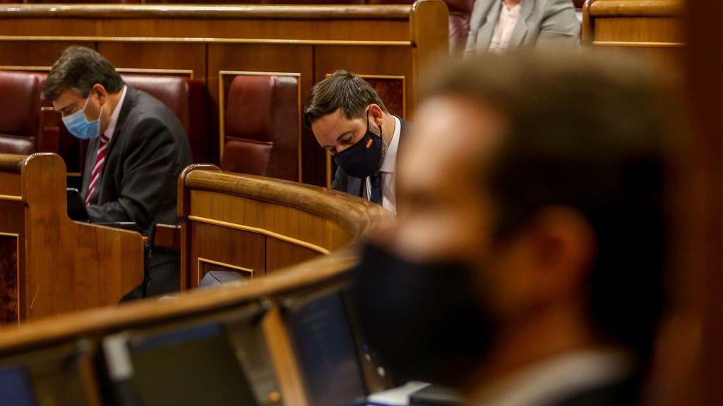"""""""De derechita cobarde"""" a """"flamante líder de la servil oposición"""", Abascal ajusta cuentas con Casado"""