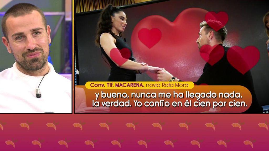 """Macarena emociona hasta las lágrimas a Rafa Mora: """"Estoy muy segura"""""""