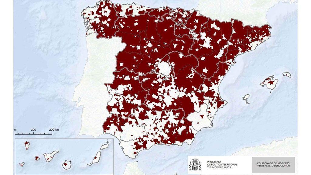 Comuni che concentrano il 10% della popolazione spagnola