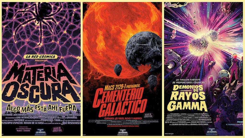 Colección de carteles de la NASA para Halloween