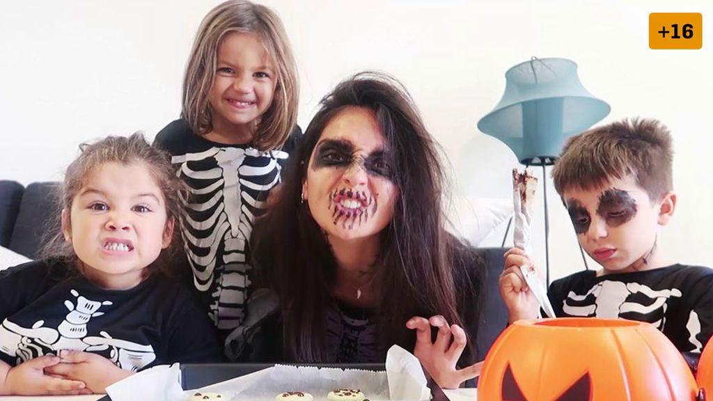 María Hernández sorprende a su familia con una espectacular fiesta de Halloween en su nueva casa de lujo (2/2)