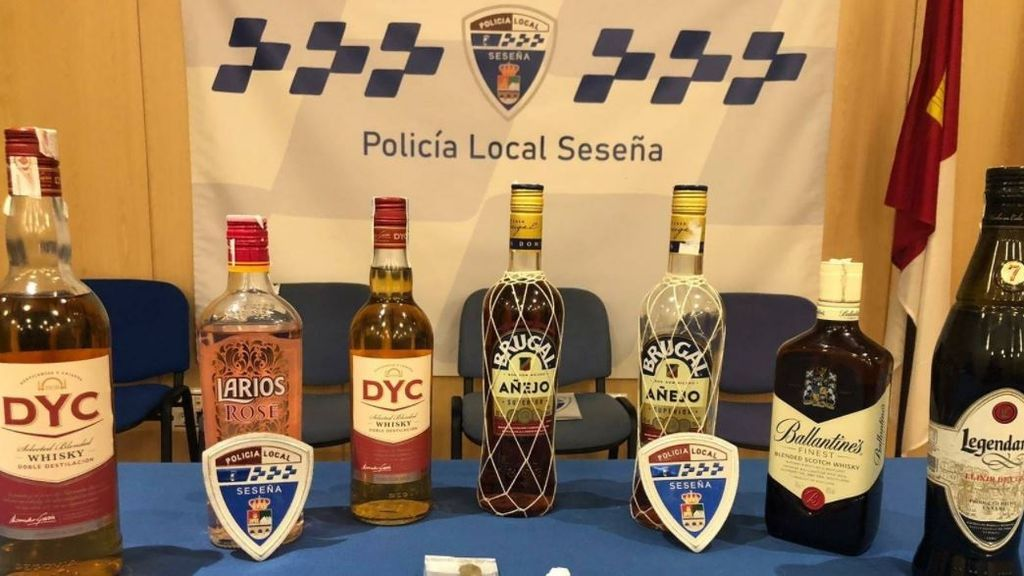 Bebidas alcohólicas halladas en la fiesta ilegal desalojada en Seseña