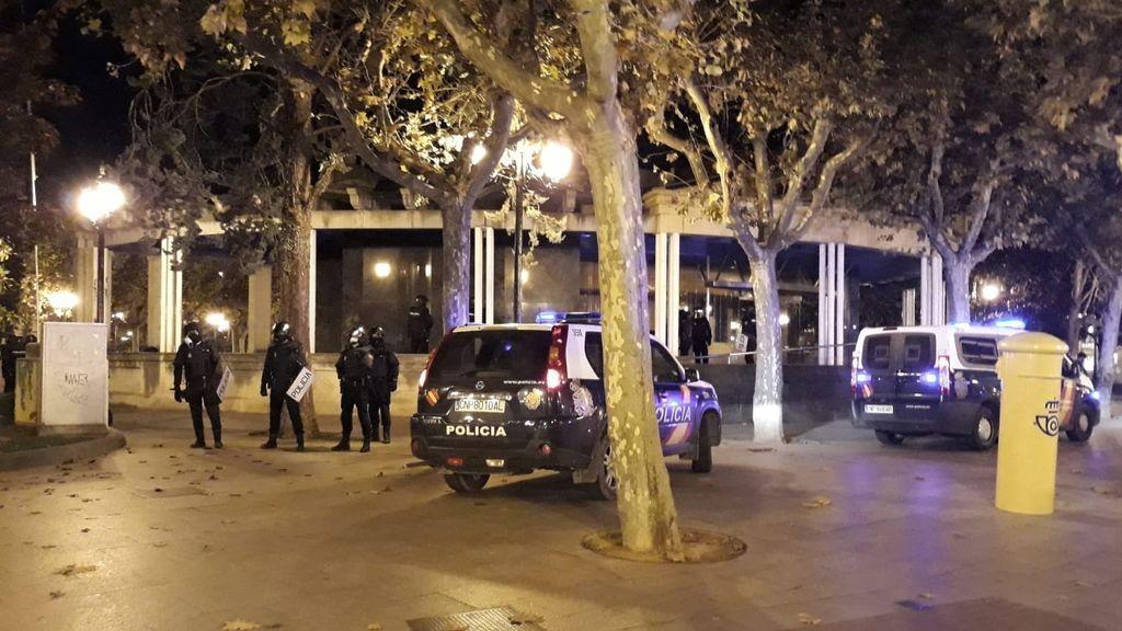 Nuevos incidentes en el centro de Logroño en otra noche de protestas