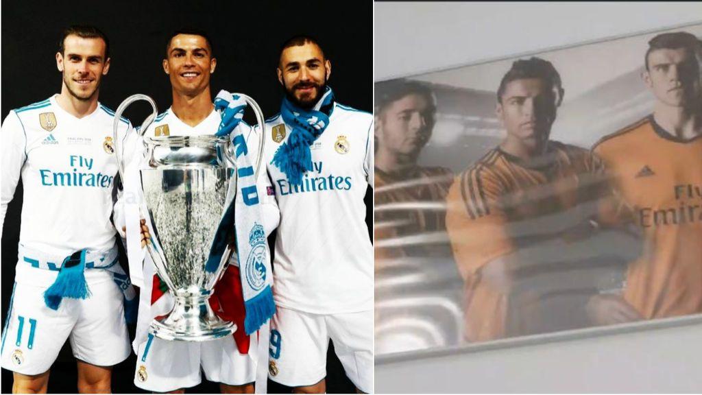 Benzema no se olvida de la BBC: el cuadro de los tres integrantes que preside en su casa