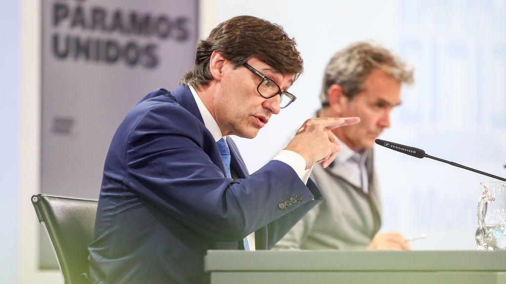 Salvador Illa y Fernando Simón durante una rueda de prensa