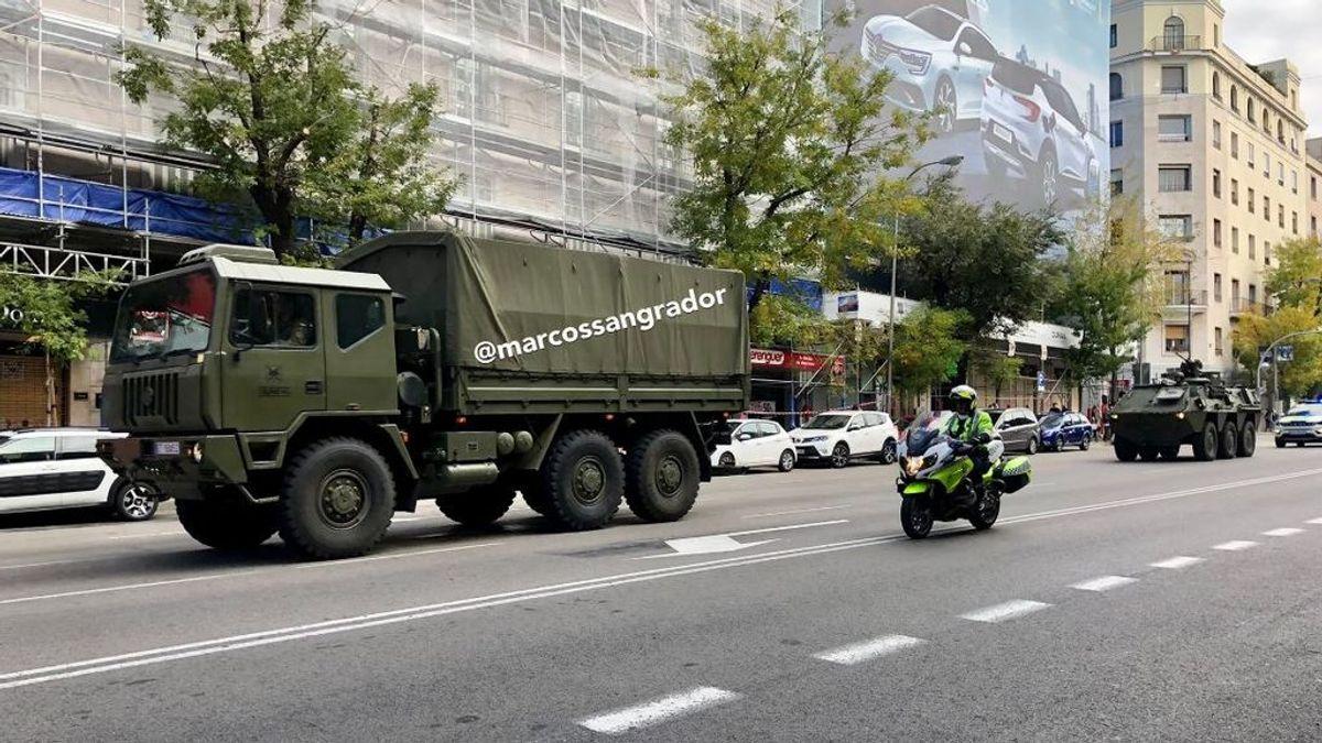 Los tanques del Ejército toman Madrid...para grabar una serie de Amenábar