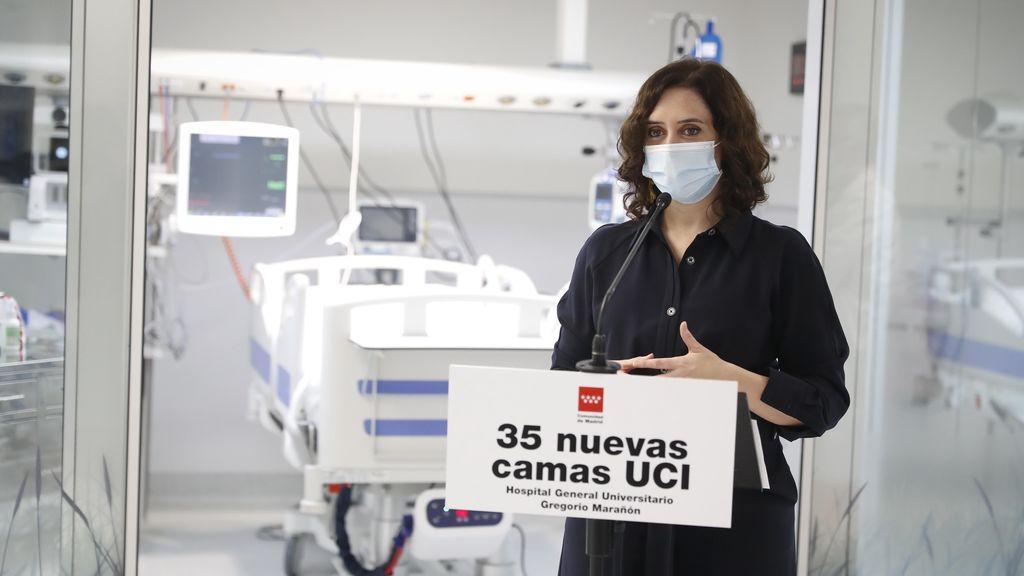 """Díaz Ayuso, insiste: """"Para Madrid, el confinamiento domiciliario es la última solución"""""""