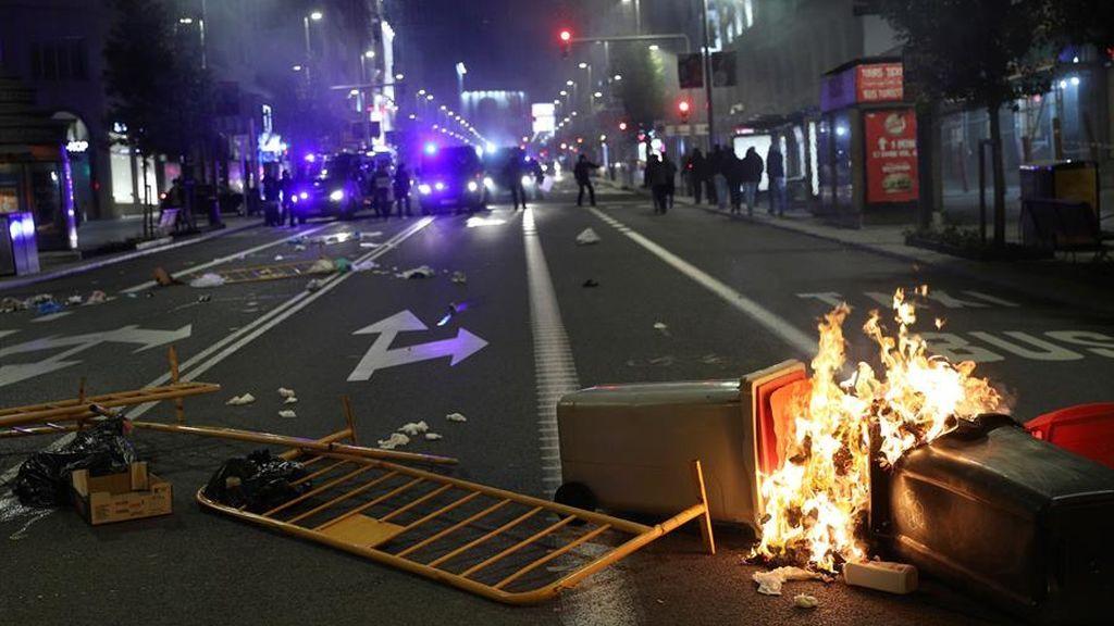 Protestas en las calles de Madrid contras  las medidas y restricciones por el coronavirus