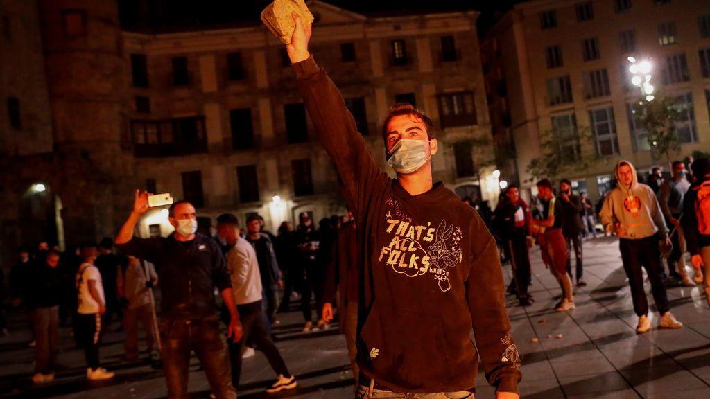 Protestas contra las restricciones por la covid en Barcelona